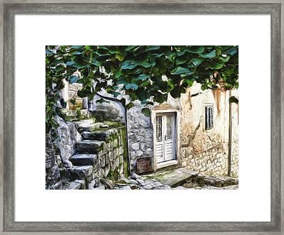 Back Alley Living Framed Print by Janet Fikar