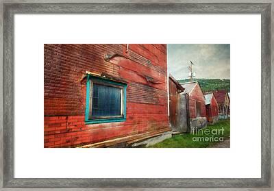 Back Alley Framed Print by Priska Wettstein
