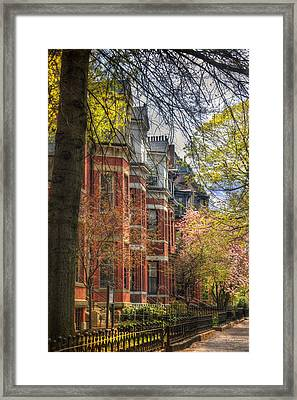 Back Bay Brownstones In Spring - Boston Framed Print by Joann Vitali