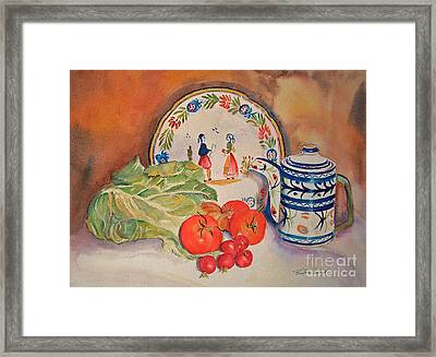 Back From Market Framed Print by Beatrice Cloake