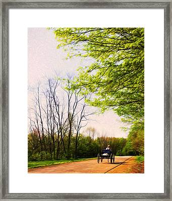 Back From Town Framed Print by Chris Bordeleau