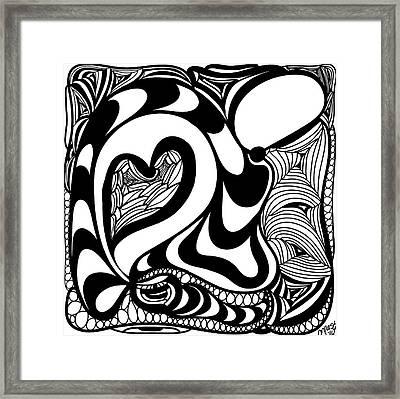 Back In Black And White 10 Modern Art By Omashte Framed Print by Omaste Witkowski
