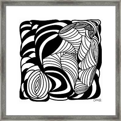 Back In Black And White 15 Modern Art By Omashte Framed Print by Omaste Witkowski