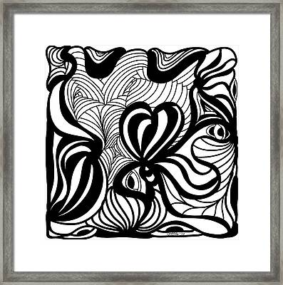 Back In Black And White 6 Modern Art By Omashte Framed Print by Omaste Witkowski