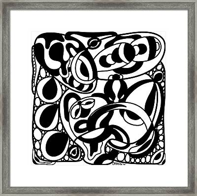 Back In Black And White 8 Modern Art By Omashte Framed Print by Omaste Witkowski