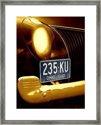 Back In The Day Framed Print by Kenneth Krolikowski