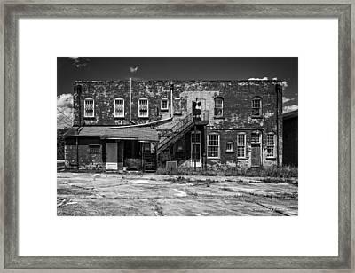 Back Lot - Bw Framed Print by Christopher Holmes