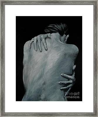 Back Of Naked Woman Framed Print by Jindra Noewi
