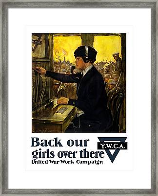 Back Our Girls Over There Framed Print by War Is Hell Store