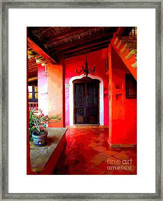 Back Passage By Darian Day Framed Print by Mexicolors Art Photography
