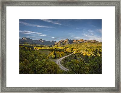 Back Road In Colorado Framed Print by Jon Glaser