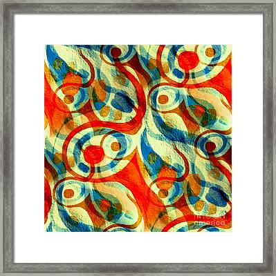 Background Choice Coffee Time Abstract Framed Print by Barbara Moignard