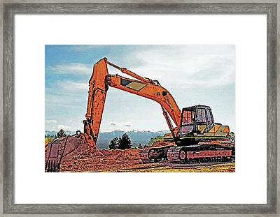 Backhoe 2 Framed Print by Steve Ohlsen