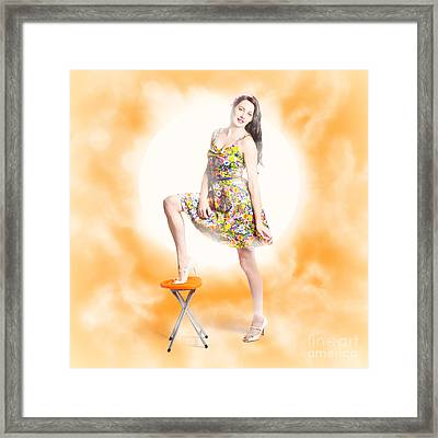 Backlit Pin-up Beauty Framed Print by Jorgo Photography - Wall Art Gallery