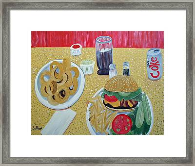 Bacon Cheeseburger Deluxe Framed Print by Norma Tolliver