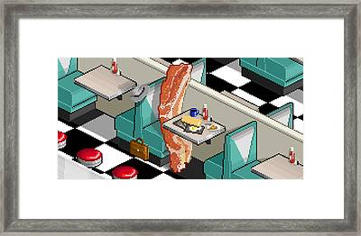 Bacon Detective Framed Print by Uri Tuchman