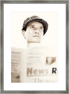 Bad News From Vintage Times Framed Print by Jorgo Photography - Wall Art Gallery
