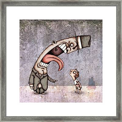 Bad Rich Man Framed Print by Autogiro Illustration