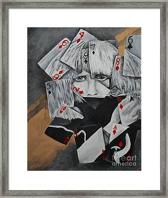 Bad Romance Gaga Framed Print by Robert Hodgson