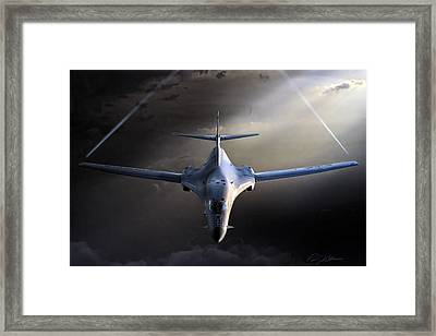 Bad To The Bone Framed Print by Peter Chilelli