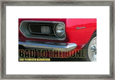 Bad To The Bone Framed Print by Richard Rizzo