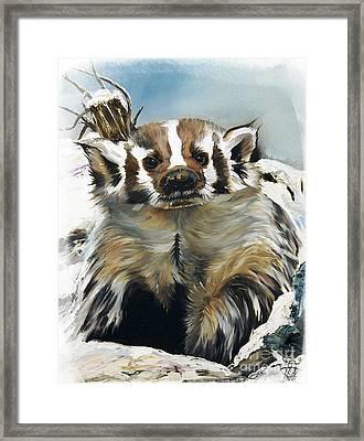 Badger - Guardian Of The South Framed Print by J W Baker