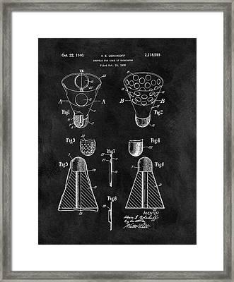 Badminton Shuttle Patent Framed Print by Dan Sproul