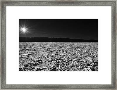 Badwater Framed Print by Peter Tellone