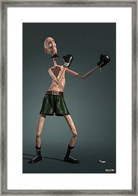 Baffi Storto - The Italian Boxer Framed Print by BaloOm Studios