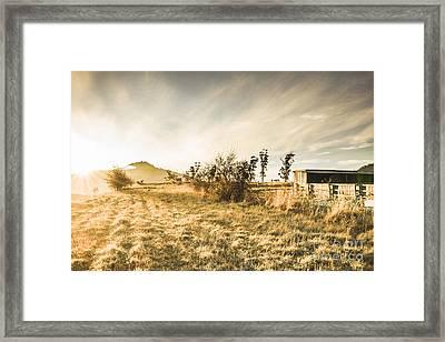 Bagdad Crisp Winter Countryside Framed Print by Jorgo Photography - Wall Art Gallery