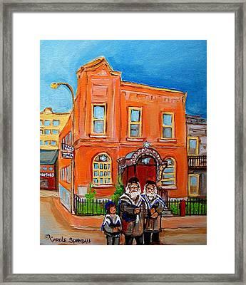 Bagg Street Synagogue Sabbath Framed Print by Carole Spandau