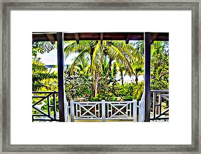 Bahama House View Framed Print by Anthony C Chen
