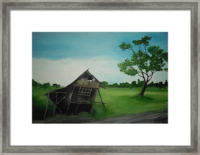 Bahay Kubo Framed Print by Robert Cunningham