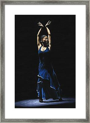 Bailarina A Solas Del Flamenco Framed Print by Richard Young