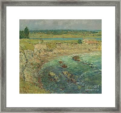 Bailey's Beach  Newport  Rhode Island Framed Print by Childe Hassam