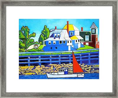 Bailey's Island Framed Print by Nicholas Martori