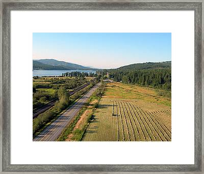 Bailing Hay In Late July Framed Print by Jerry Luther