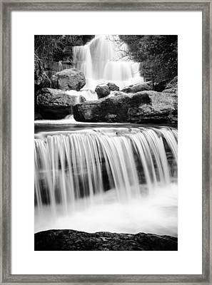 Bajouca Waterfall Bw II Framed Print by Marco Oliveira
