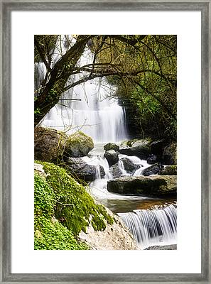 Bajouca Waterfall Iv Framed Print by Marco Oliveira
