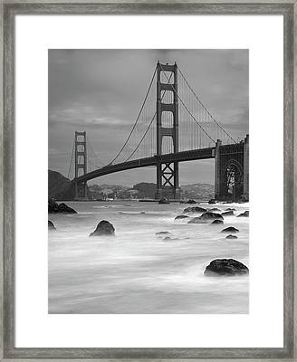 Baker Beach Impressions Framed Print by Sebastian Schlueter (sibbiblue)