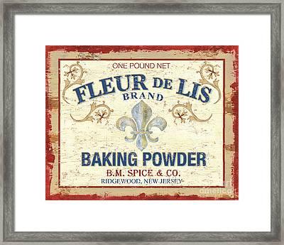 Baking Powder Fleur De Lis Framed Print by Debbie DeWitt
