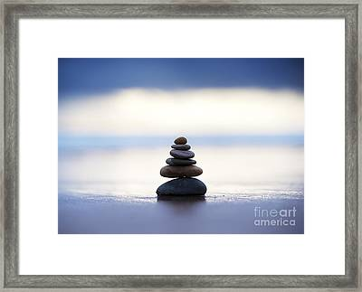 Balance And Calm Framed Print by Tim Gainey