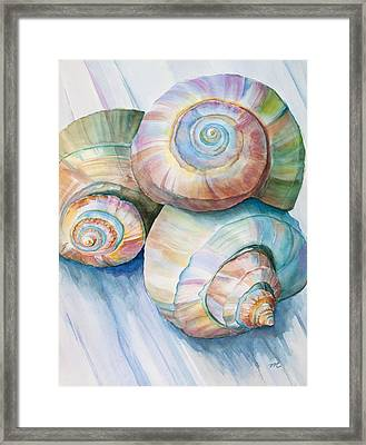 Balance In Spirals Watercolor Painting Framed Print by Michelle Wiarda