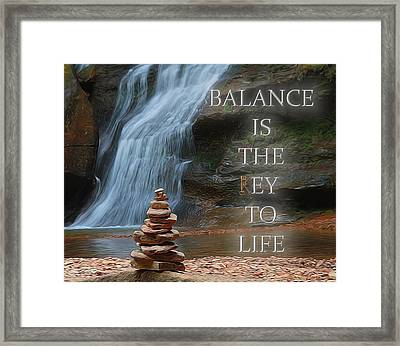 Balance Is The Key Framed Print by Dan Sproul