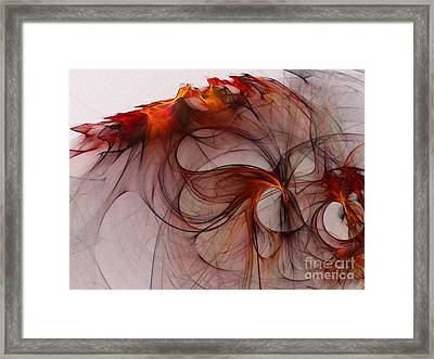 Balance Of Power Abstract Art Framed Print by Karin Kuhlmann