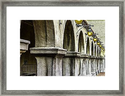Balboa Park Arches Framed Print by Bill Gallagher