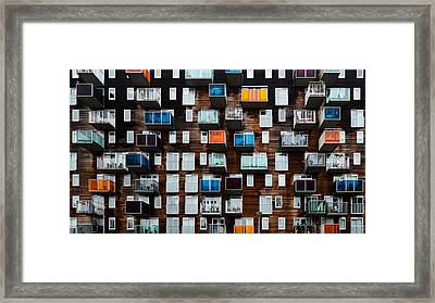 Balconia Framed Print by Pixxelpark