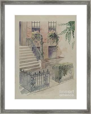 Balcony Framed Print by Gilbert Sackerman