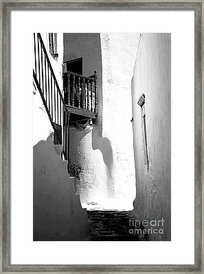 Balcony In The Shadow Infrared Framed Print by John Rizzuto