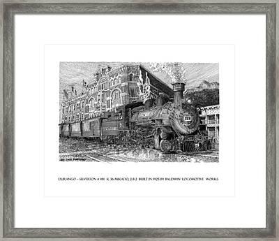 Baldwin 481   2 8 2   Narrow Gauge Steam Locomotive Framed Print by Jack Pumphrey